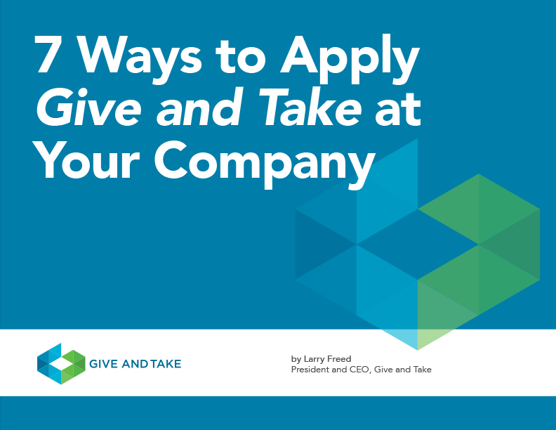 7 Ways to Apply Give and Take at Your Company